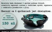 Zaproszenie na Warsztaty z ceramiki artystycznej i użytkowej
