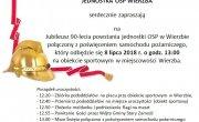 Zaproszenie na Jubileusz 90-lecia powstania jednostki OSP w Wierzbie